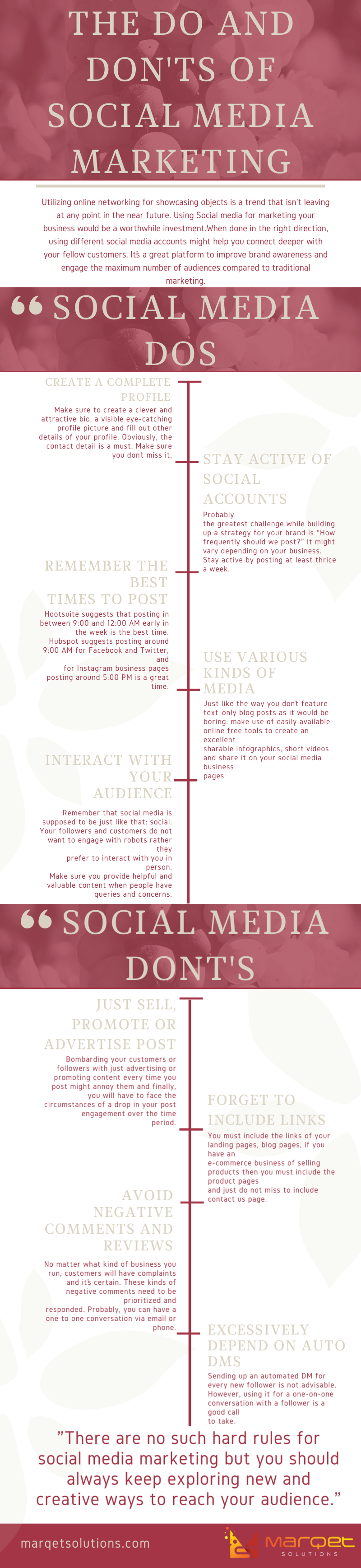 The do and don'ts of social media marketing
